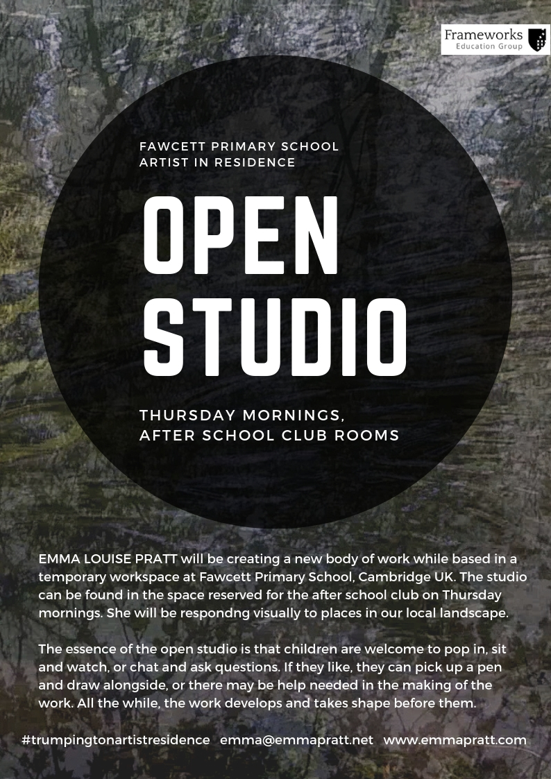 Open Studio Emma Louise Pratt Artist iIN residence Fawcett Primary School Artists in Schools Project