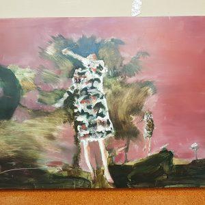 Island Dweller with Pink Sky Emma Louise Pratt 2007